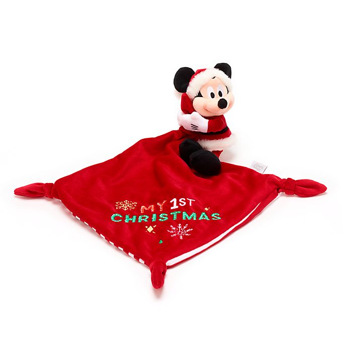 Disney Store Mickey Mouse Holiday Cheer Baby Blankie
