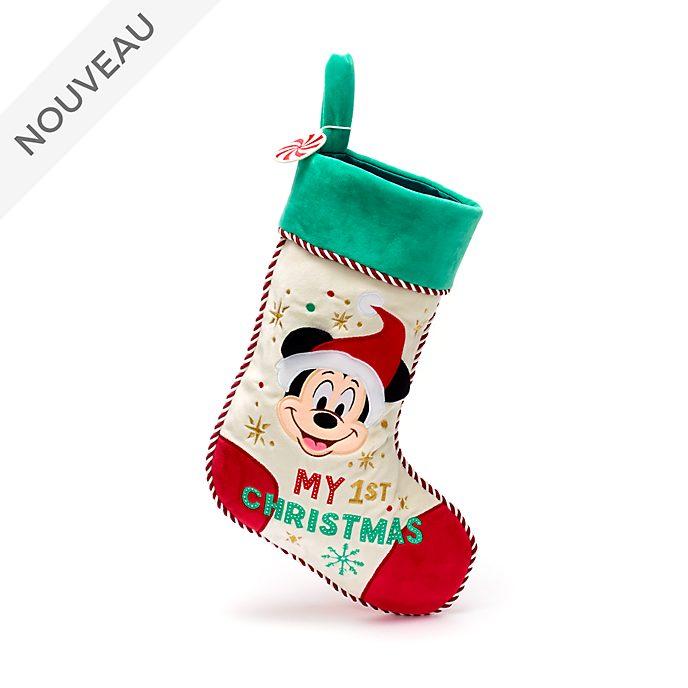 Disney Store Chaussette de Noël Mickey pour bébés, Holiday Cheer