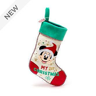 Disney Store Mickey Mouse Holiday Cheer Baby Stocking