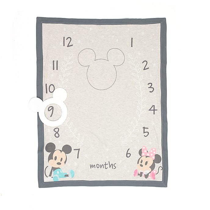 Disney Store Mickey and Minnie Baby Milestone Blanket