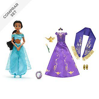 Muñeca princesa Jasmine y colección de accesorios Aladdín, Disney Store