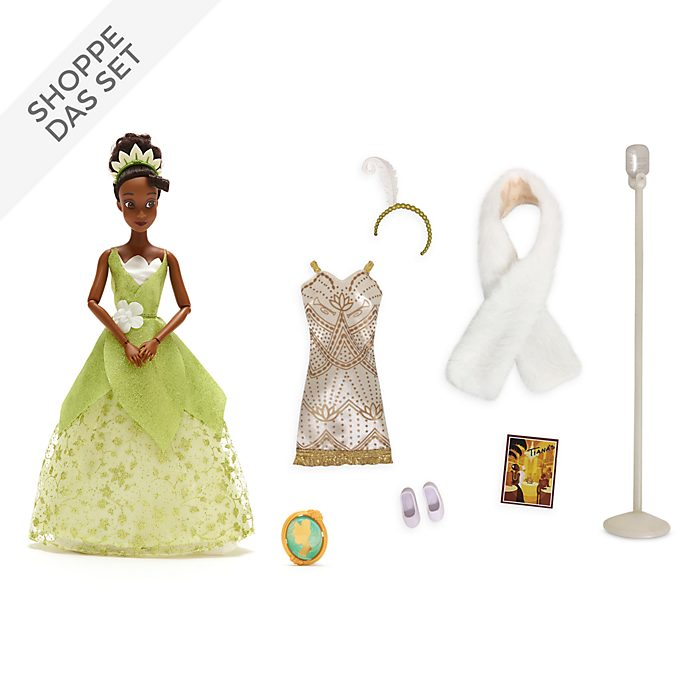 Disney Store - Küss den Frosch - Tiana - Puppe und Accessoire Set