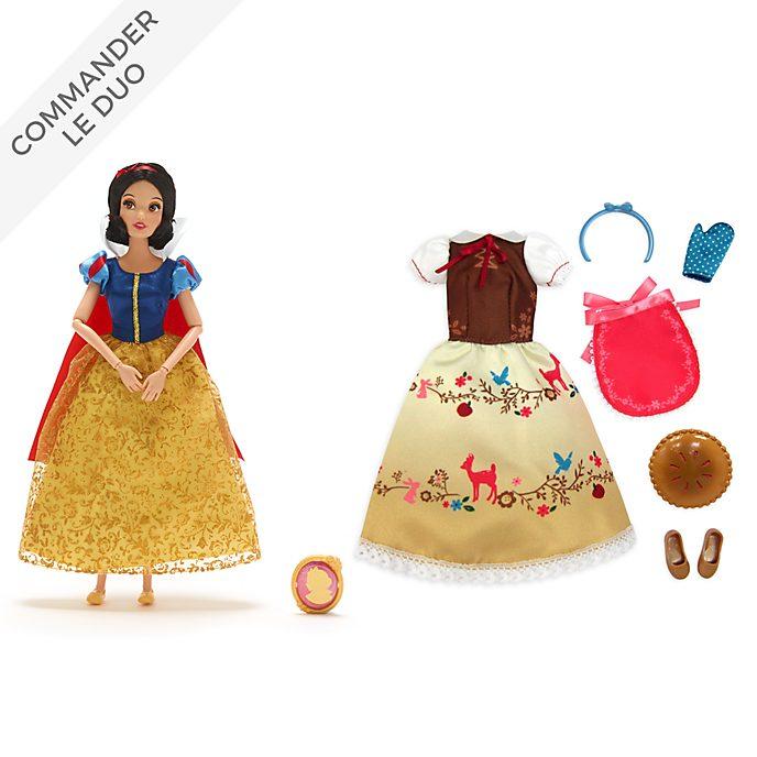 Disney Store Collection Poupée Blanche Neige et accessoires
