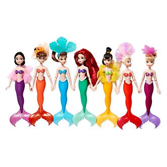Disney Store Ariel and Sisters Dolls, Set of 7