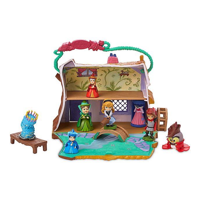 Disney Store Aurora Cottage Playset, Disney Animators' Collection Littles