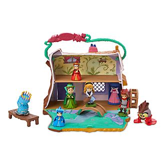 Disney Store Aurora Cottage Playset, Disney Animators' Collection Littles