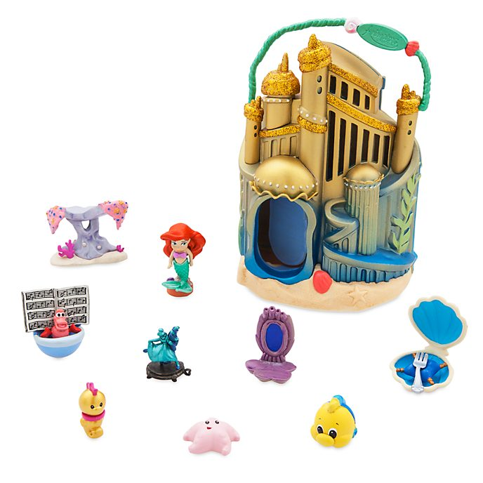Disney Store Ariel's Undersea Palace Playset, Disney Animators' Collection Littles