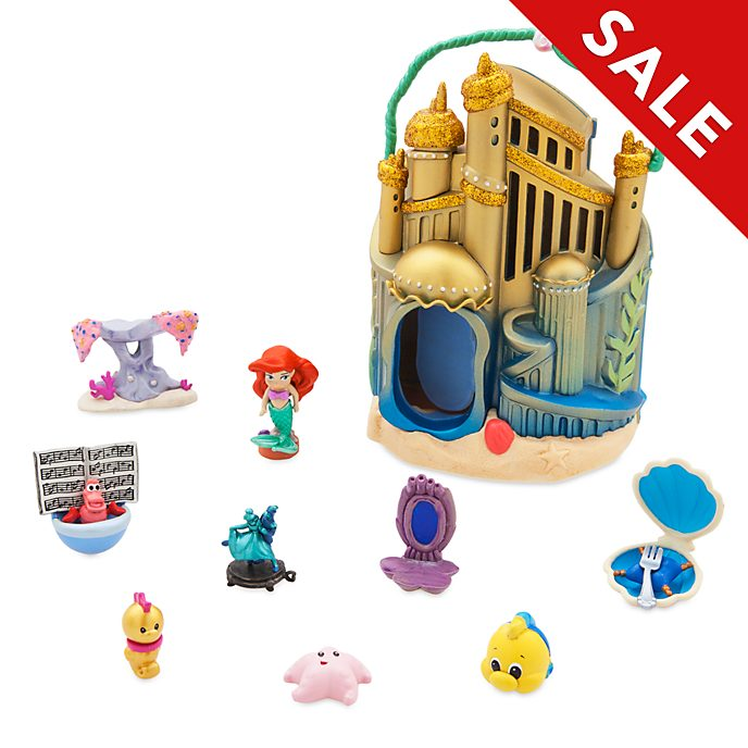Disney Store - Disney Animators' Collection Littles - Arielles Unterwasserpalast - Spielset