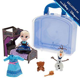 Set juego muñeca en miniatura Elsa, colección Animators, Disney Store