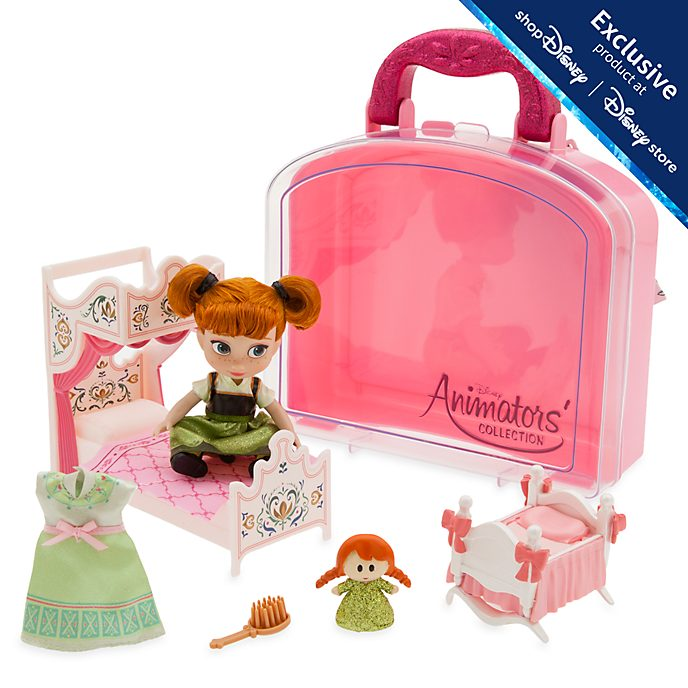 Disney Store Anna Mini Doll Playset, Disney Animators' Collection