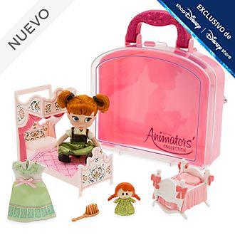 Set juego muñeca en miniatura Anna, colección Animators, Disney Store