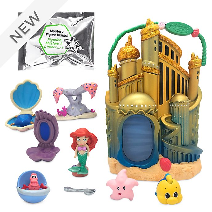 Disney Store Ariel's Palace Playset, Disney Animators' Collection Littles