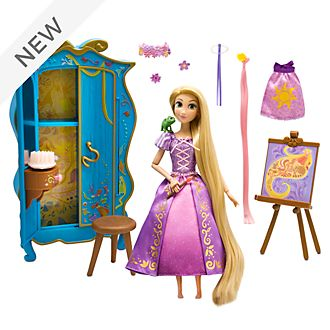 Disney Store Rapunzel Wardrobe Vanity Playset, Tangled