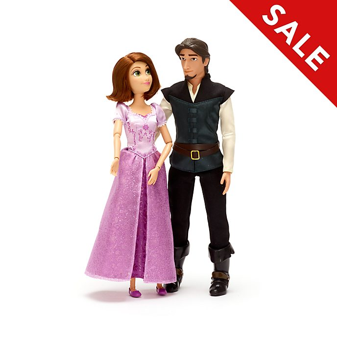 Disney Store Rapunzel and Flynn Doll Set