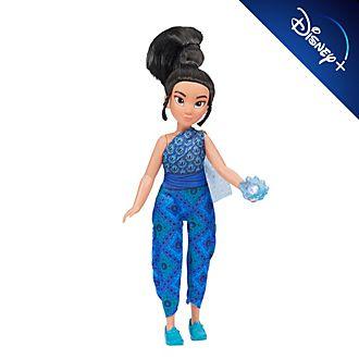 Hasbro muñeca joven raya y flor de Kumandra