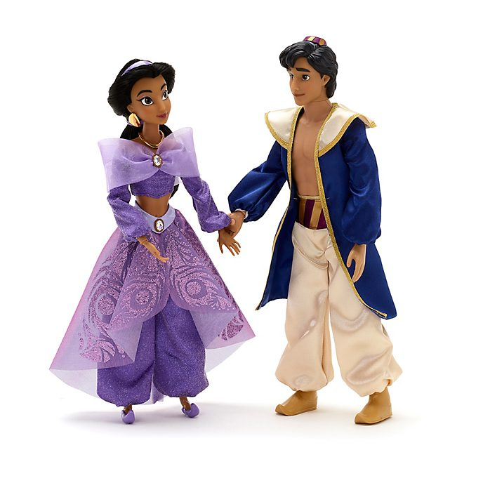Disney Store - Prinzessin Jasmin - und Aladdin - Set mit singenden Puppen