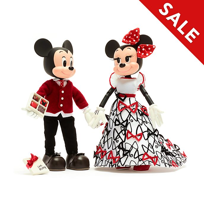Disney Store Mickey and Minnie Limited Edition Doll Set