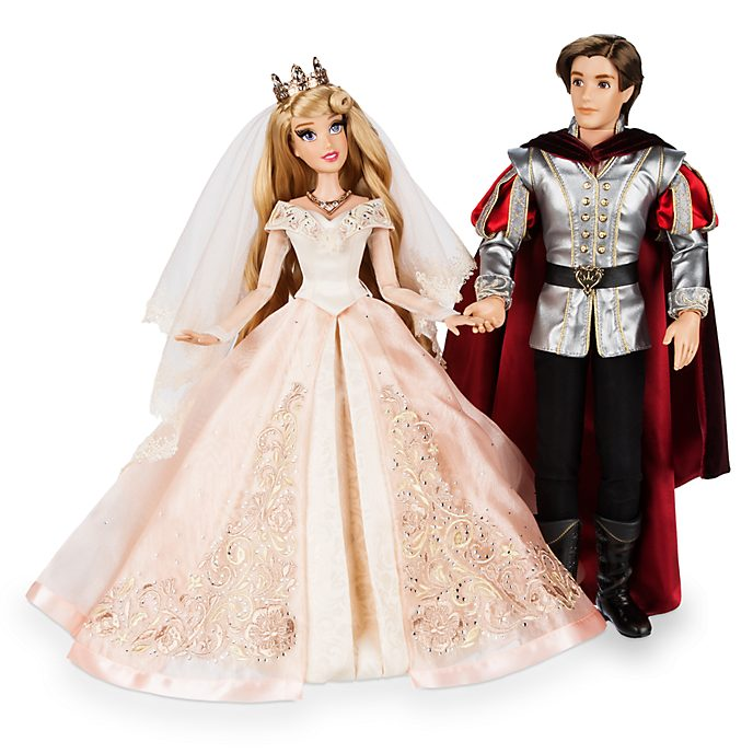 Disney Store Sleeping Beauty and Prince Philip Limited Edition Doll Set