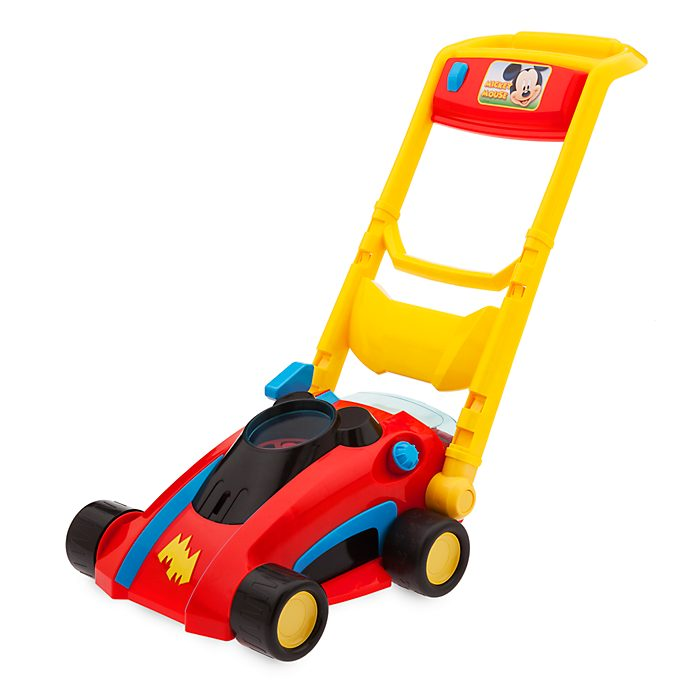Disney Store Mickey Mouse Mow and Go Lawnmower Playset