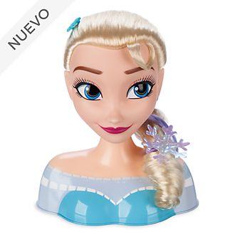 Cabeza peluquería Elsa, Frozen, Disney Store