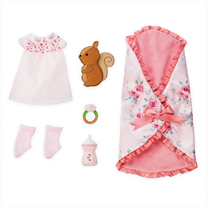 Disney Store Aurora Baby Doll Bedtime Set, Disney Animators' Collection