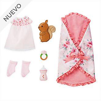 Conjunto para dormir muñeca Aurora bebé, colección Animators, Disney Store