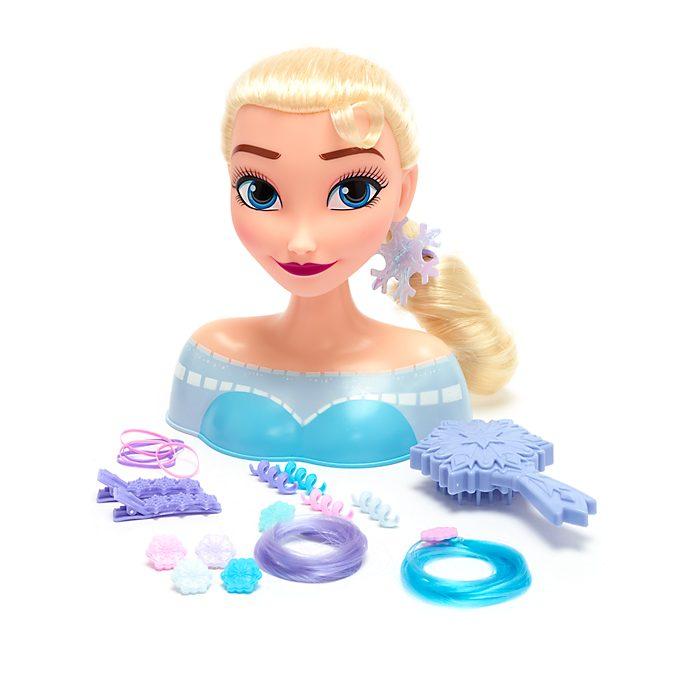 Disney Store Tête à coiffer Elsa, La Reine des Neiges