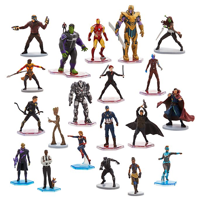 Disney Store Marvel Mega Figurine Playset
