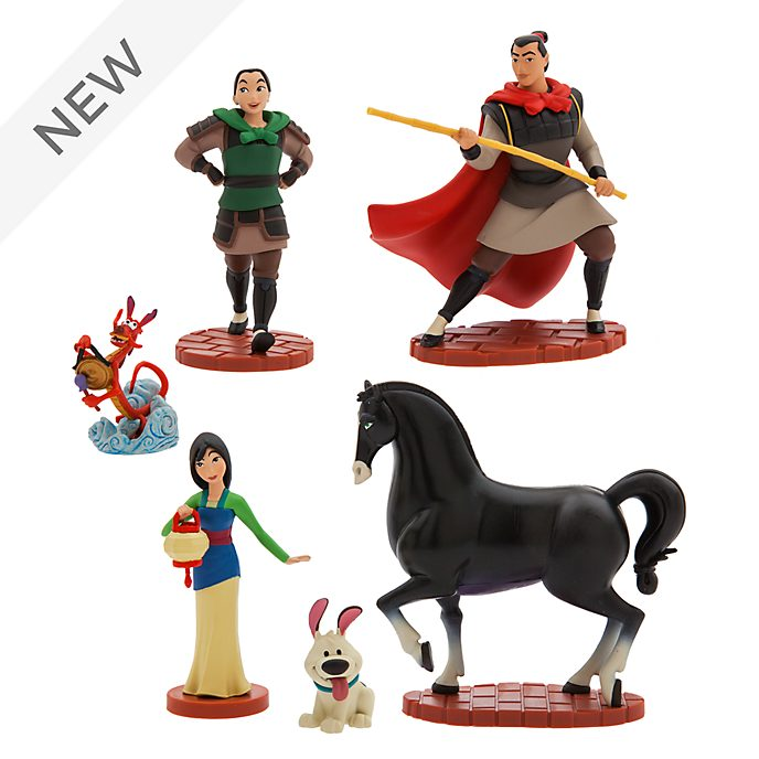Disney Store Mulan Figurine Playset