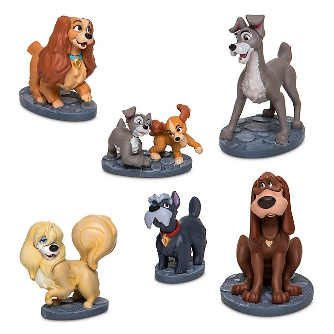 Disney Store Coffret de figurines La Belle et le Clochard