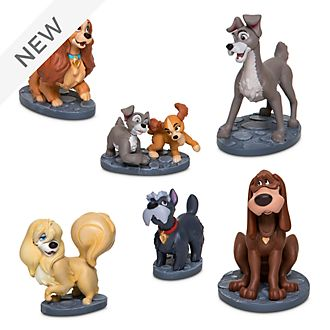 Disney Store Lady and the Tramp Figurine Playset