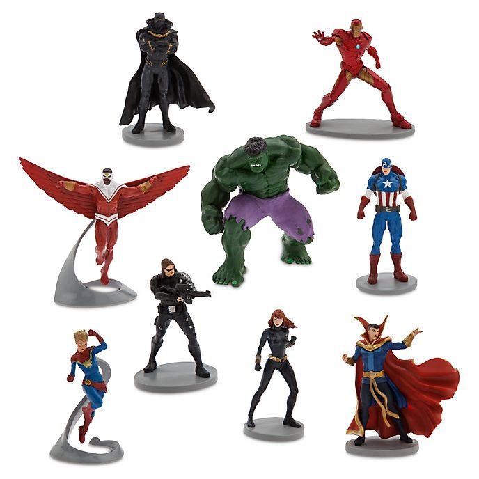 Set juego figuritas cómic Los Vengadores, Deluxe, Disney Store