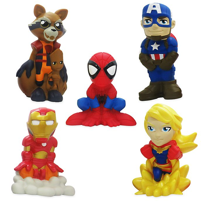 Disney Store Avengers Bath Toy Set