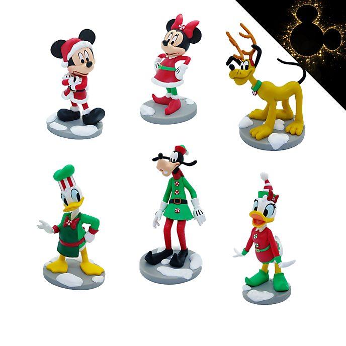 Disney Store Coffret de figurines de Noël Mickey et ses Amis
