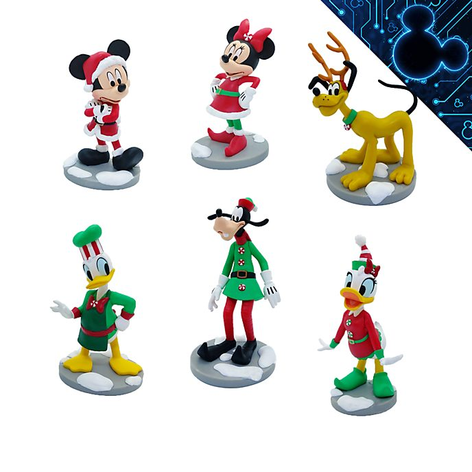 Disney Store Mickey and Friends Christmas Figurine Playset