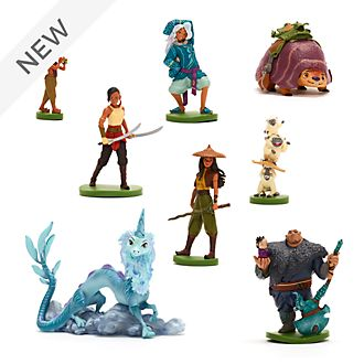 Disney Store Raya and the Last Dragon Deluxe Figurine Playset