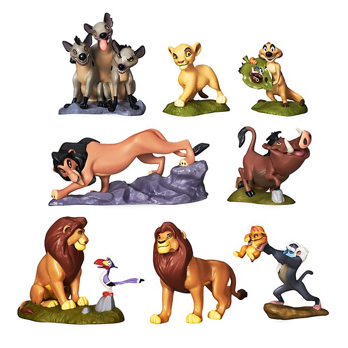 Set juego figuritas lujo El Rey León, Disney Store