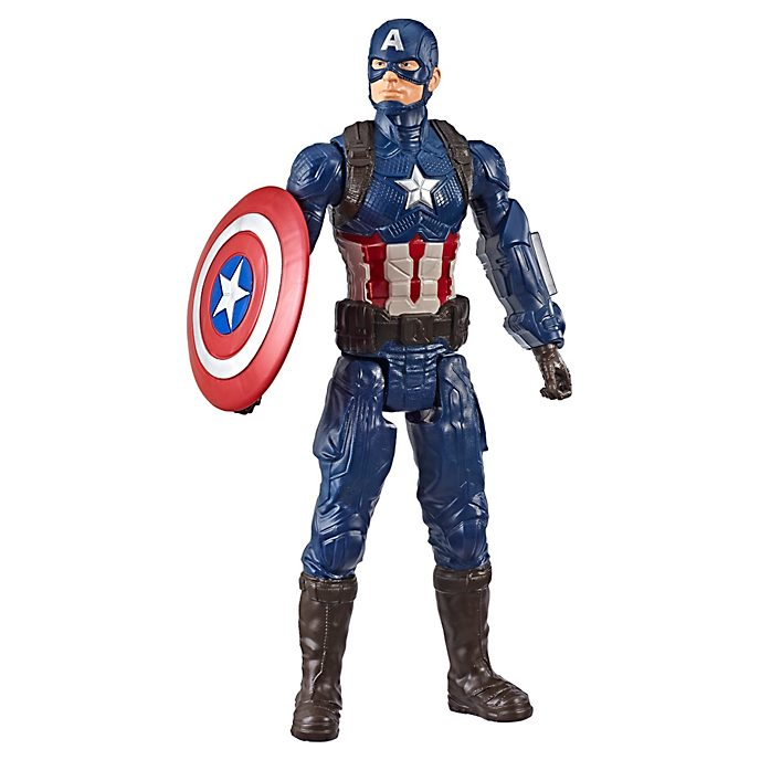 Figura acción Capitán América, Titan Hero Power FX, Hasbro