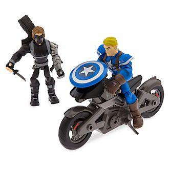 Disney Store Marvel Toybox Captain America Motorcycle Playset