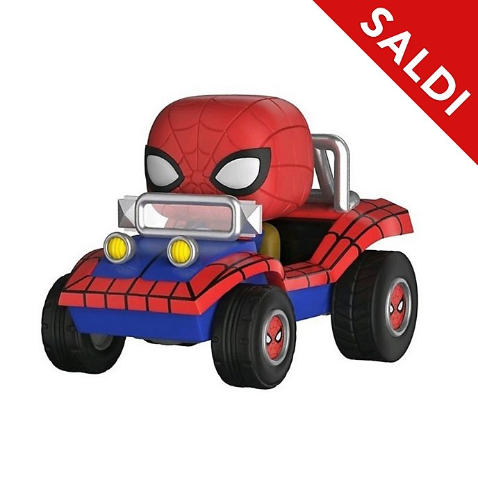 Personaggio in vinile Spider-Man con Spider-Mobile serie Pop! di Funko