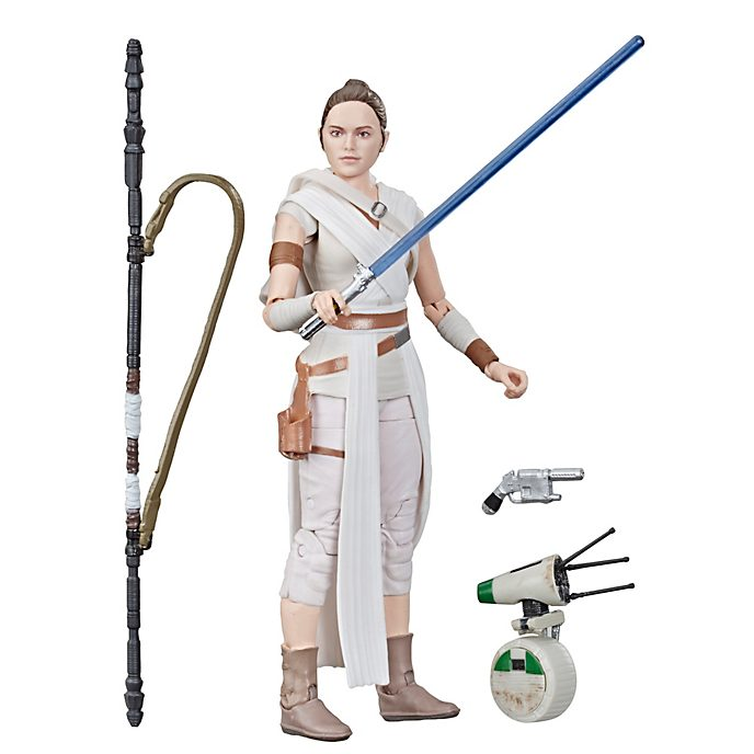 Hasbro Figurine Rey et D-O 15 cm, Star Wars: The Black Series