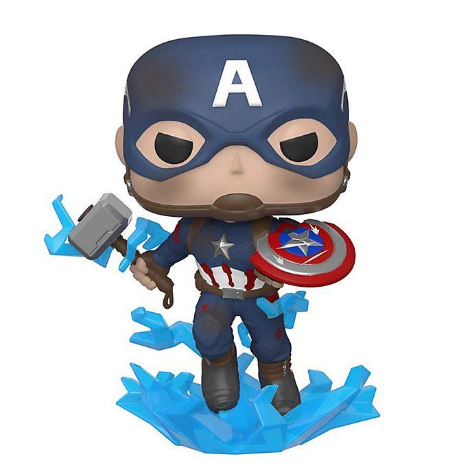 Personaggio in vinile Capitan America con scudo rotto serie Pop! di Funko