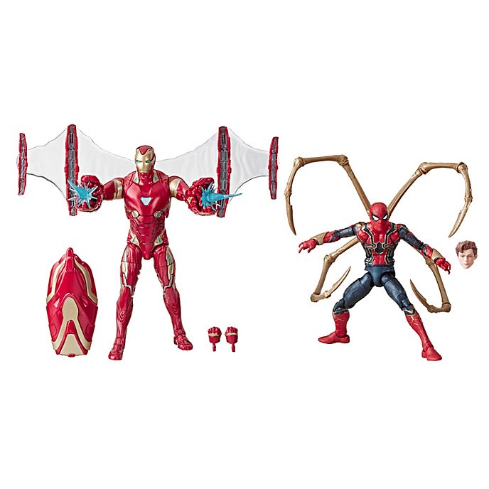 Hasbro Duo de figurines Iron Man et Iron Spider articulées 15cm, Marvel Legends