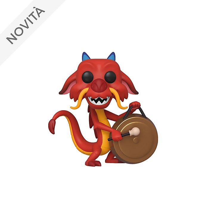 Personaggio in vinile Mushu con gong serie Pop! di Funko, Mulan