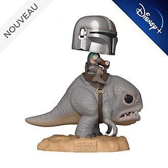 Funko Figurine Le Mandalorien sur un blurrg Pop! de luxeen vinyle