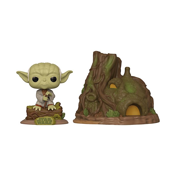 Funko Figurine Yoda avec hutte de Dagobah Pop! Town, Star Wars