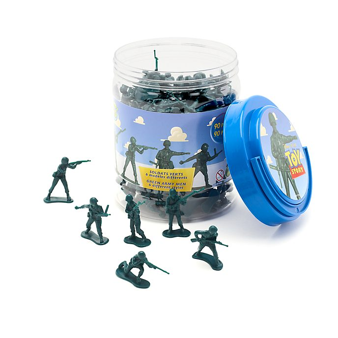 Disney Store Green Army Men Bucket O' Soldiers