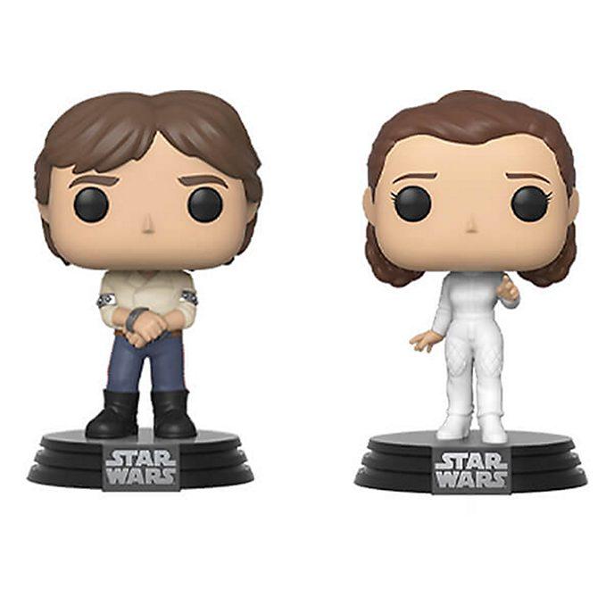 Personaggi in vinile Han e Leia serie Pop! di Funko, Star Wars