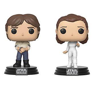 Figuras vinilo Han y princesa Leia, Star Wars, Funko Pop!