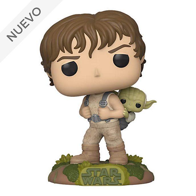 Figura vinilo Luke con Yoda, Star Wars, Funko Pop!